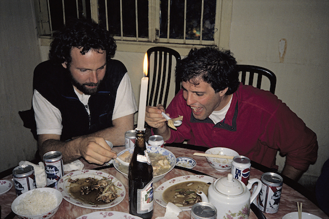 95 A 9 9 1995 TG Ian w Hamid Eating Chicken Foot in Pome