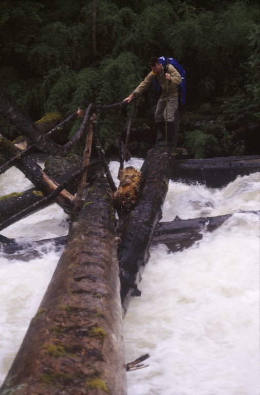 95 B 56 74b 1995 Todd Log Crossing Raging River