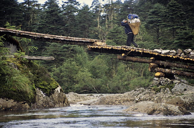 95 B 74 30 1995 TG Cantilevered Bridge over Sacred River