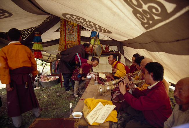 75 29a 1994 Blessing Ceremony in Tent