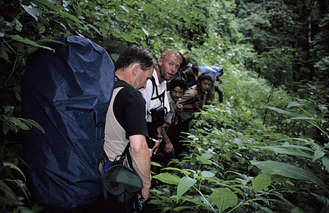 61 1995 TG Gil Ken w Porters in Rainy Jungle